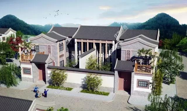 10套合院两个,第2中式合院第4现代别墅实建别墅哪个更美?案例山上图片国外图片