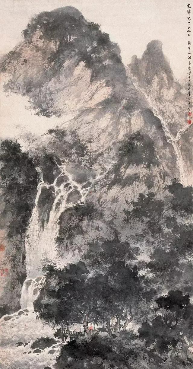 傅抱石山水画图片