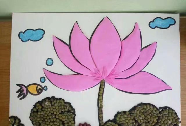 幼儿创意简笔画|漂亮的豆豆画,你也可以做得到