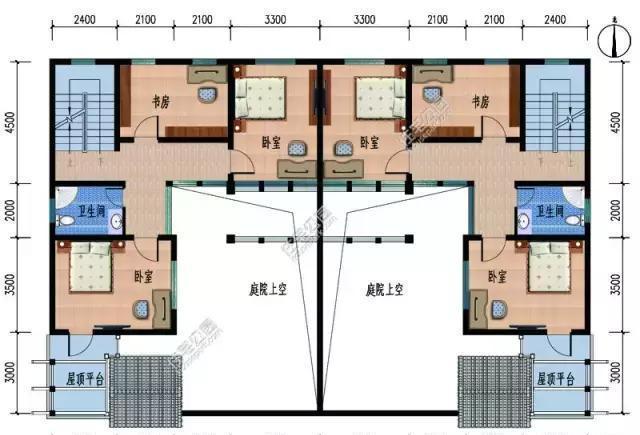 中式合院别墅户型图_绿城中式小别墅户型图图片