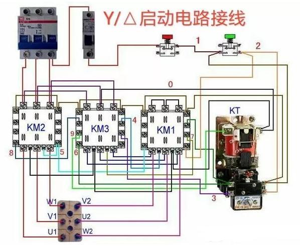 常用交流接触器实物接线图,简单明了,易懂