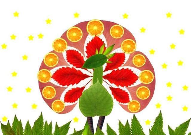 这9款幼儿树叶粘贴画,家长请收好!制作有趣,锻炼孩子巧手能力图片