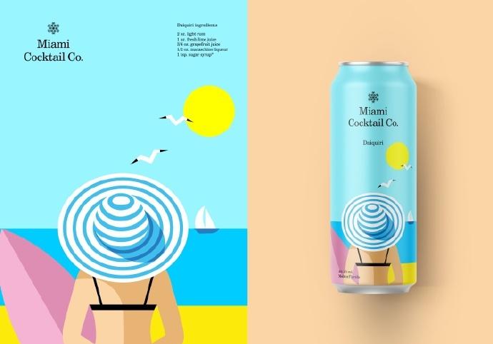 简约的美妙的饮品包装设计 by berik yergaliyev_新浪