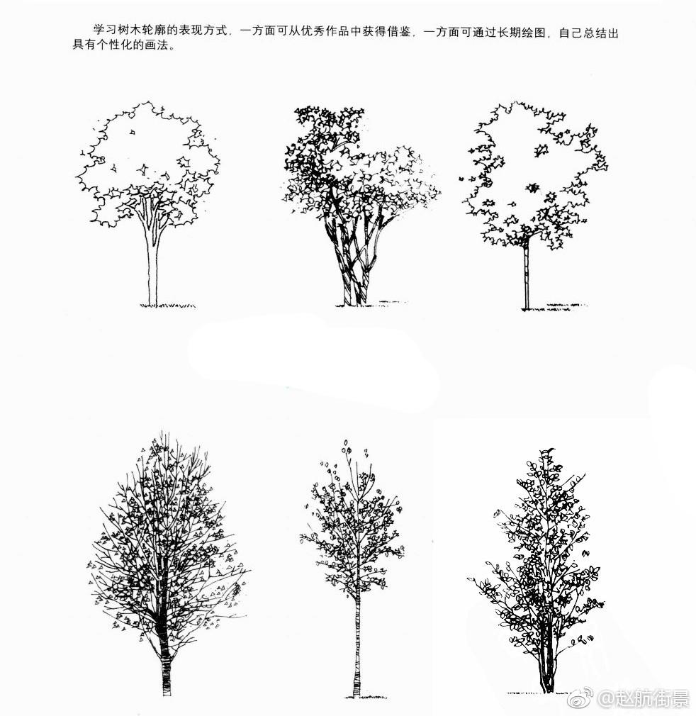 手绘表现中树的画法作者
