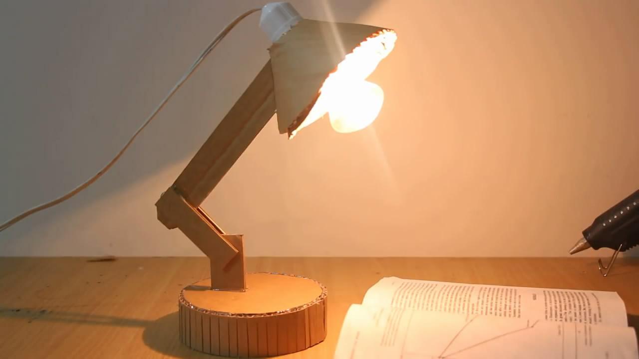 手工制作台灯,其实方法很简单,生活中很实用,看一遍就