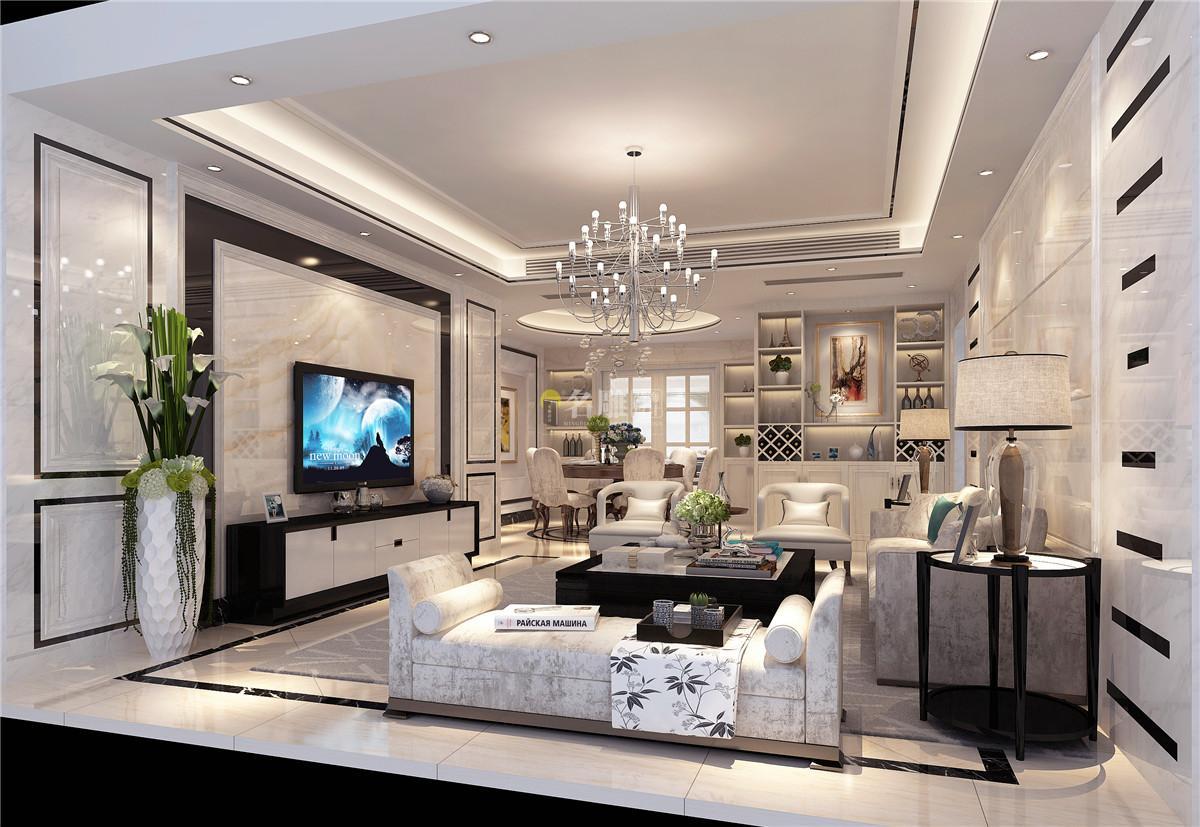 现代简约风格三居室,极简却不失大气,家居的真正魅力.图片