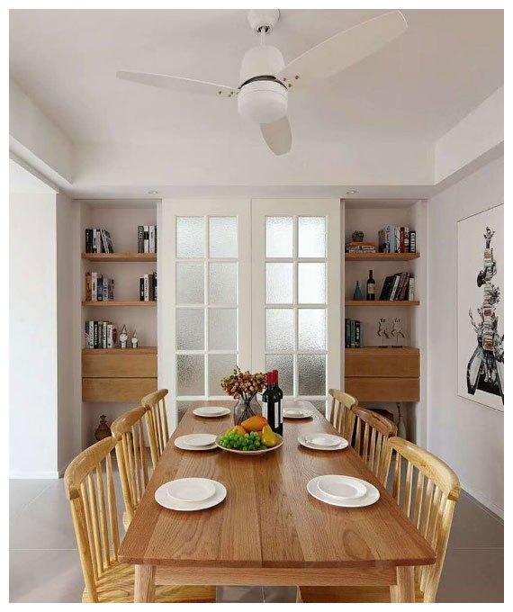 98简约户型三房装修,房屋隐形门建设,嵌入式储物柜真实用!风格小卧室农村设计设计图图片