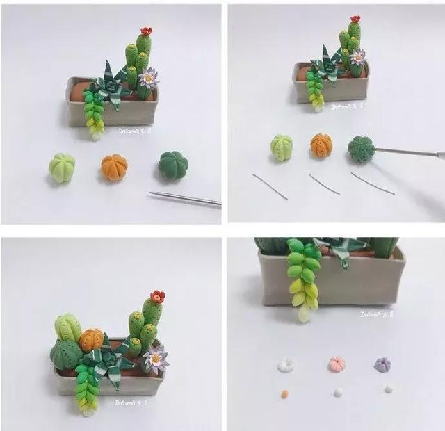 超轻粘土盆栽,赶紧收藏吧|盆栽|仙人球|仙人掌_新浪网