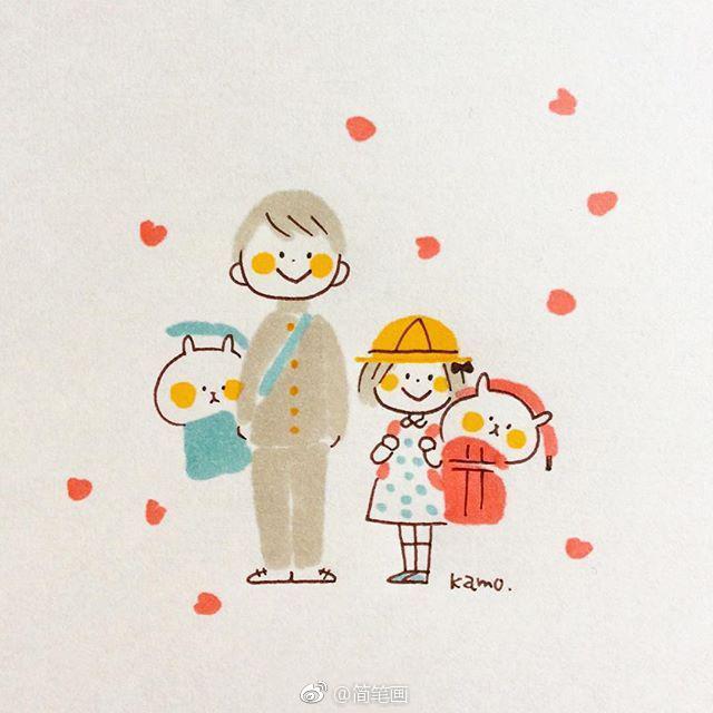 可爱的简笔画小兔子~(by:kamo)