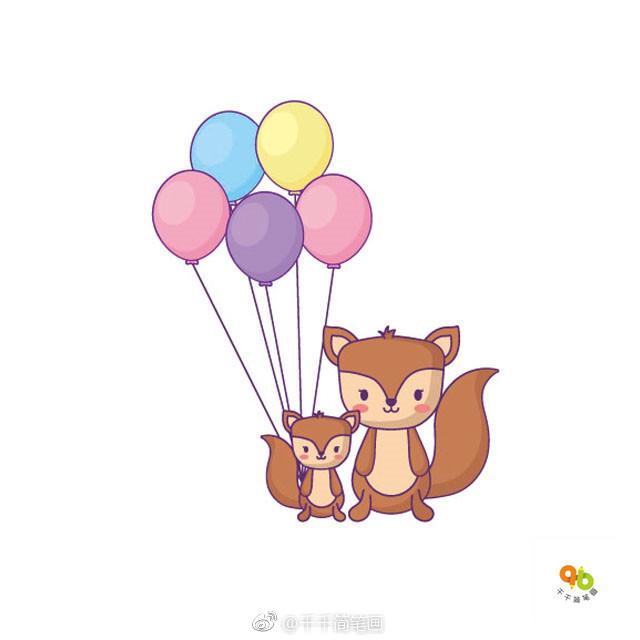 萌萌哒小松鼠简笔画详细步骤图图片