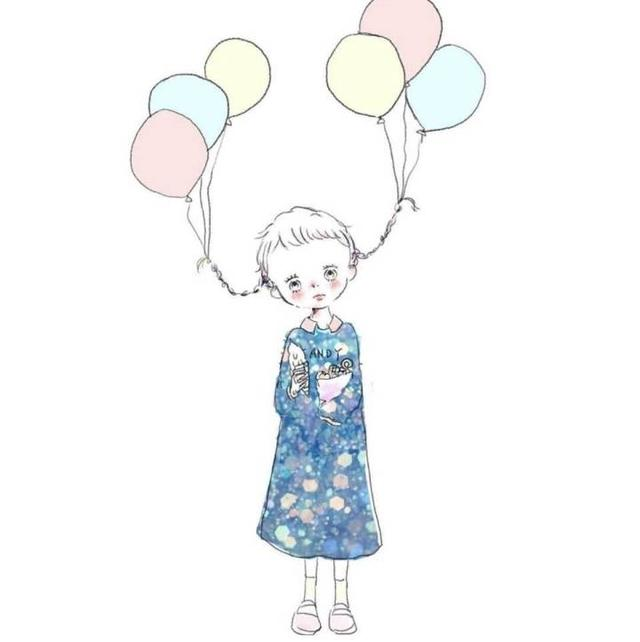 手绘卡通可爱小女孩头像,无水印收藏