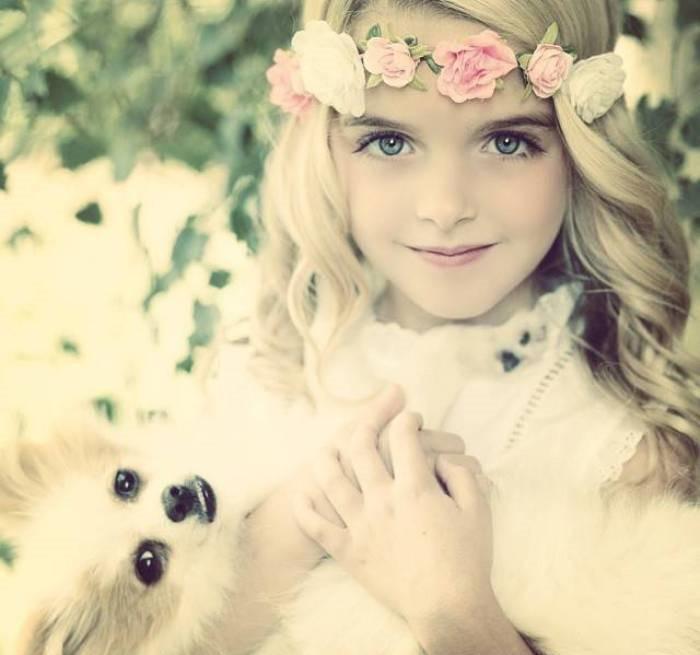 俄罗斯最美小模特米兰·库尔尼科娃, 长大后肯定是个妖精图片