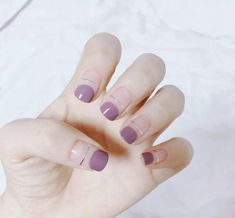 超显气质又显白,12款超美的紫色美甲图片,说紫色显手黑的宝宝们,快来