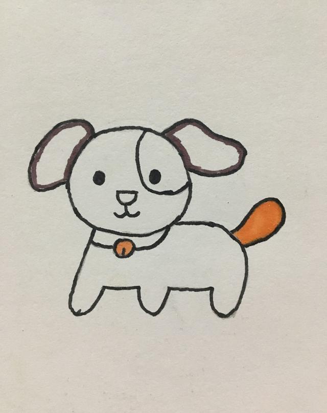 简笔画——小狗的画法