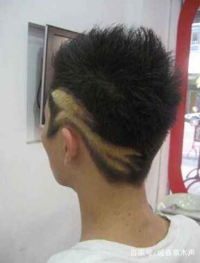 许多男孩喜欢一些时兴的发型.图片
