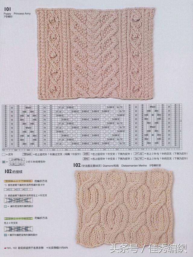 棒针毛衣编织花样图解大全 日式精选花样150款