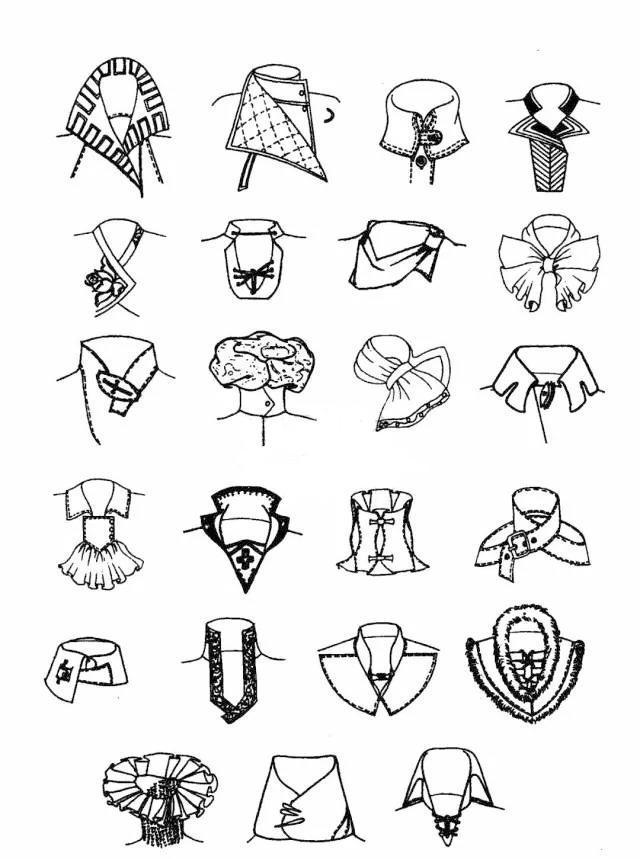 服装款式细节之衣领知识|领子|立领|衣领_新浪网
