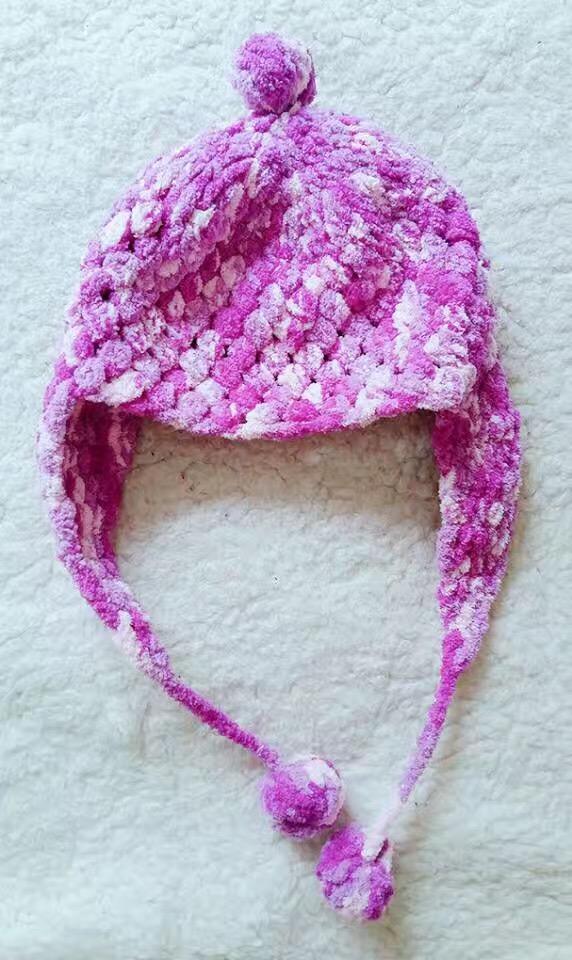 原创,手工编织宝宝毛线帽子