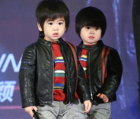 林志颖双胞胎儿子近照, 一个像迷你版林志颖, 一个却图片