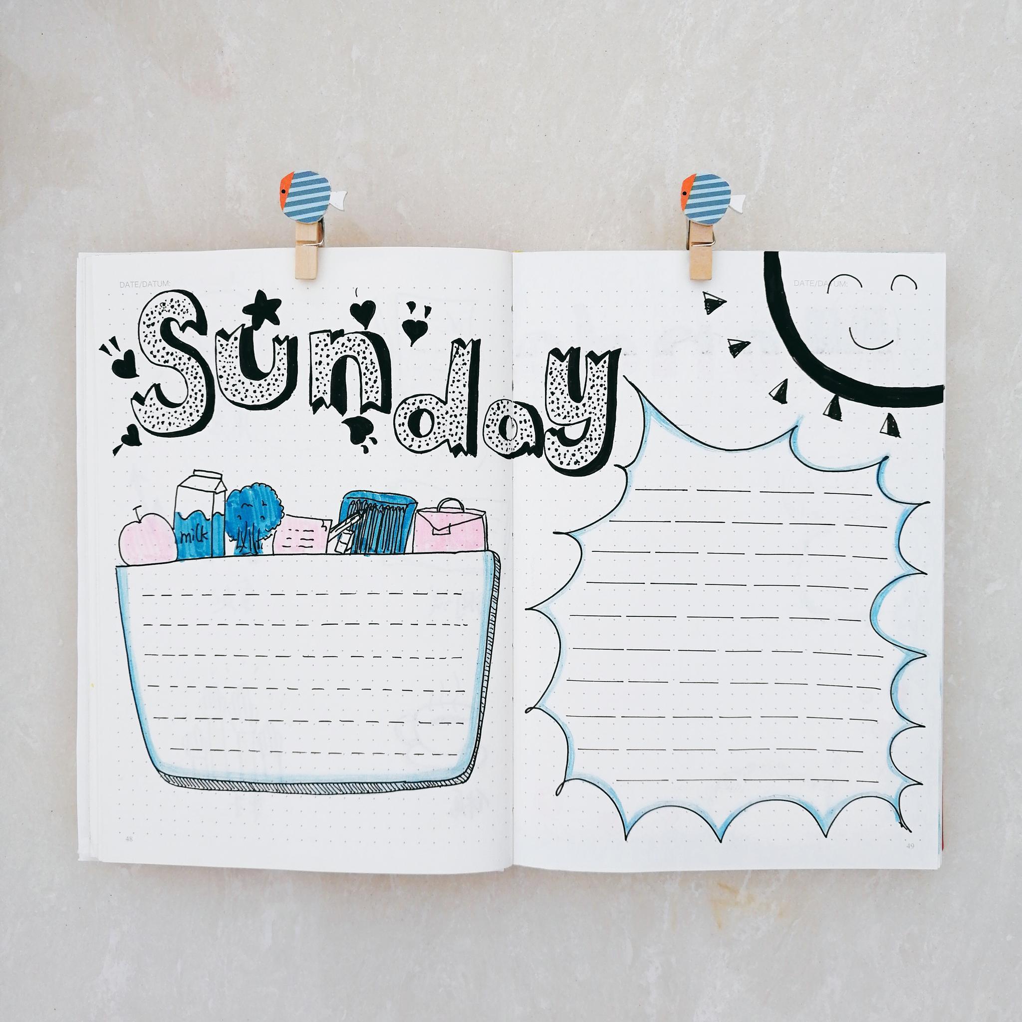 清新风每日手绘手抄报排版作者@伊伊手绘笔记