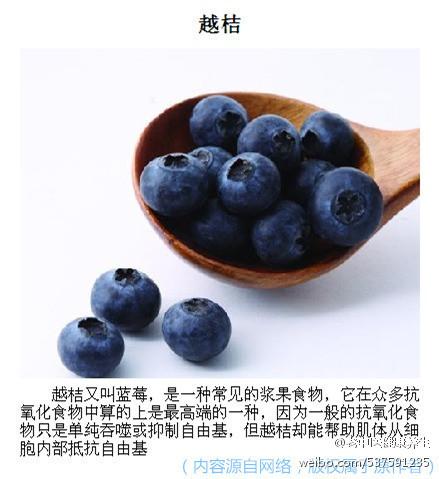 实用帖:身边的抗氧化食物,对抗衰老!!想要保持年轻漂亮