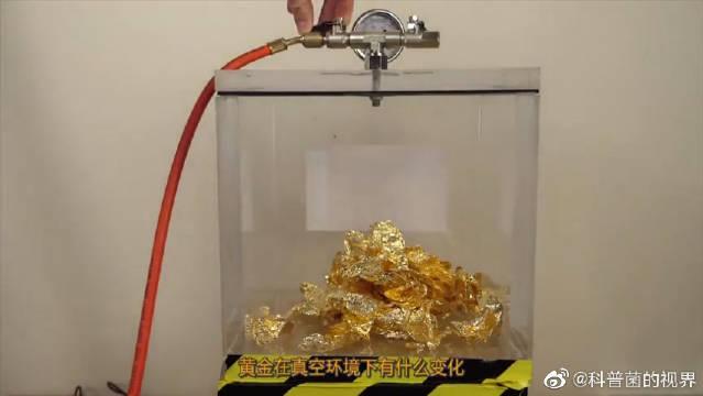 牛人将黄金放进真空箱,注入空气那一刻,网友直呼再来一次