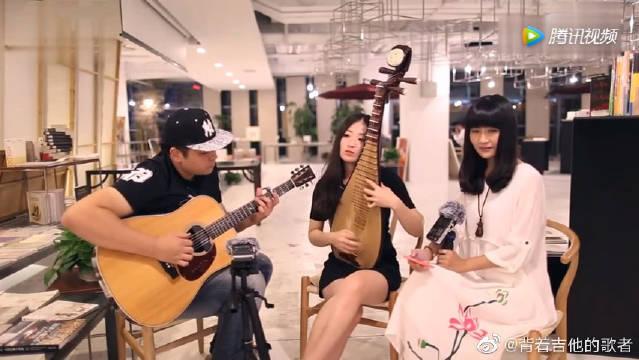 经典歌曲,吉他弹唱《追梦人》吉他与古筝的完美融合,太舒服了。
