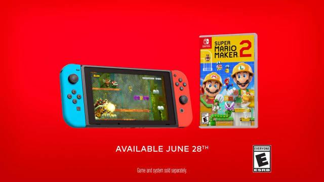 《超级马力欧创作家 2》美版广告,6月28日发售,全区中文。