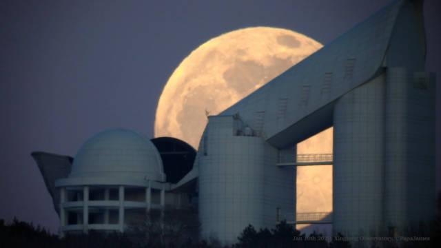 8倍速的月升,于中国科学院国家天文台兴隆观测站
