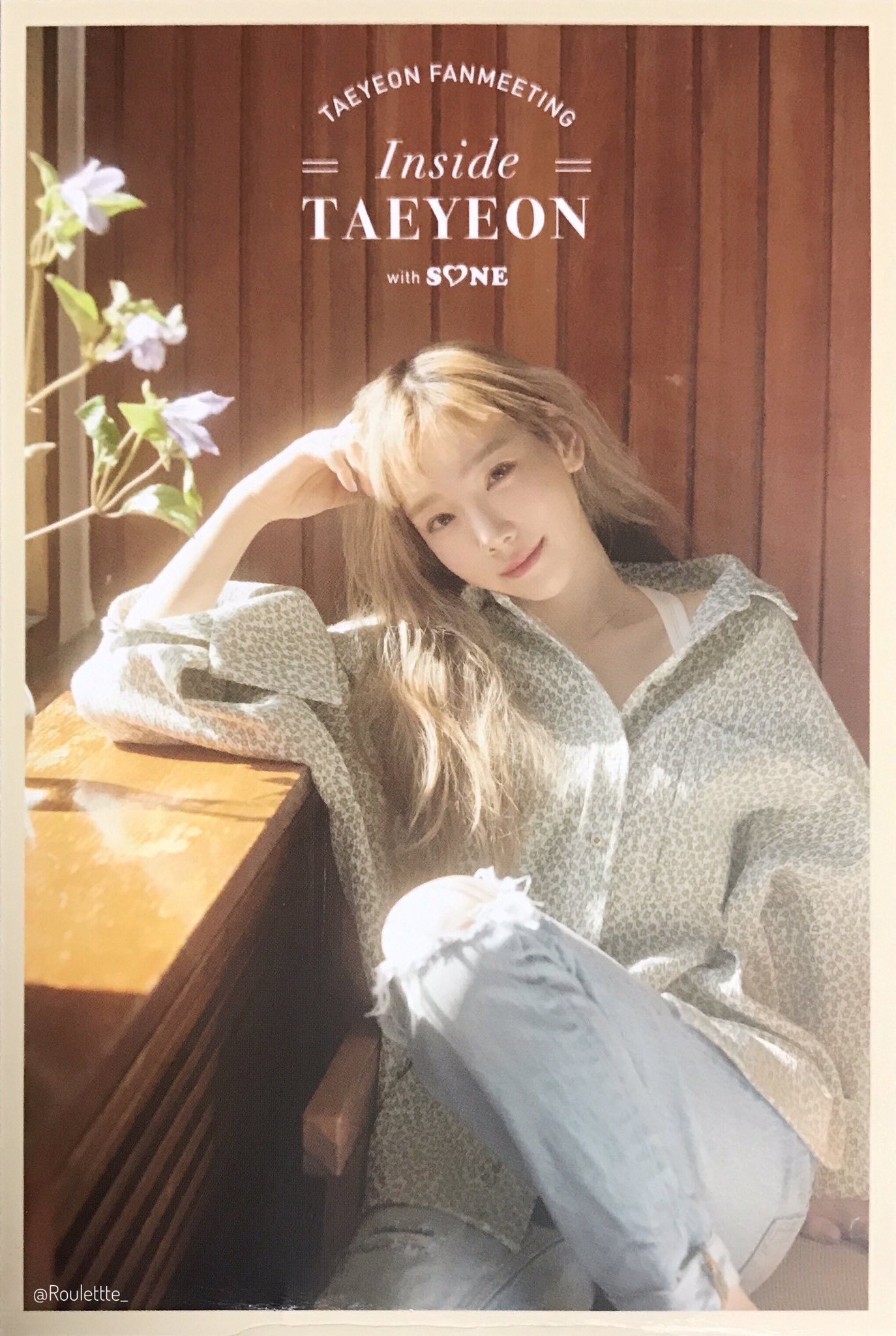 191123 TAEYEON FAN MEETING 'Inside - TAEYEON with SONE' 明信片扫
