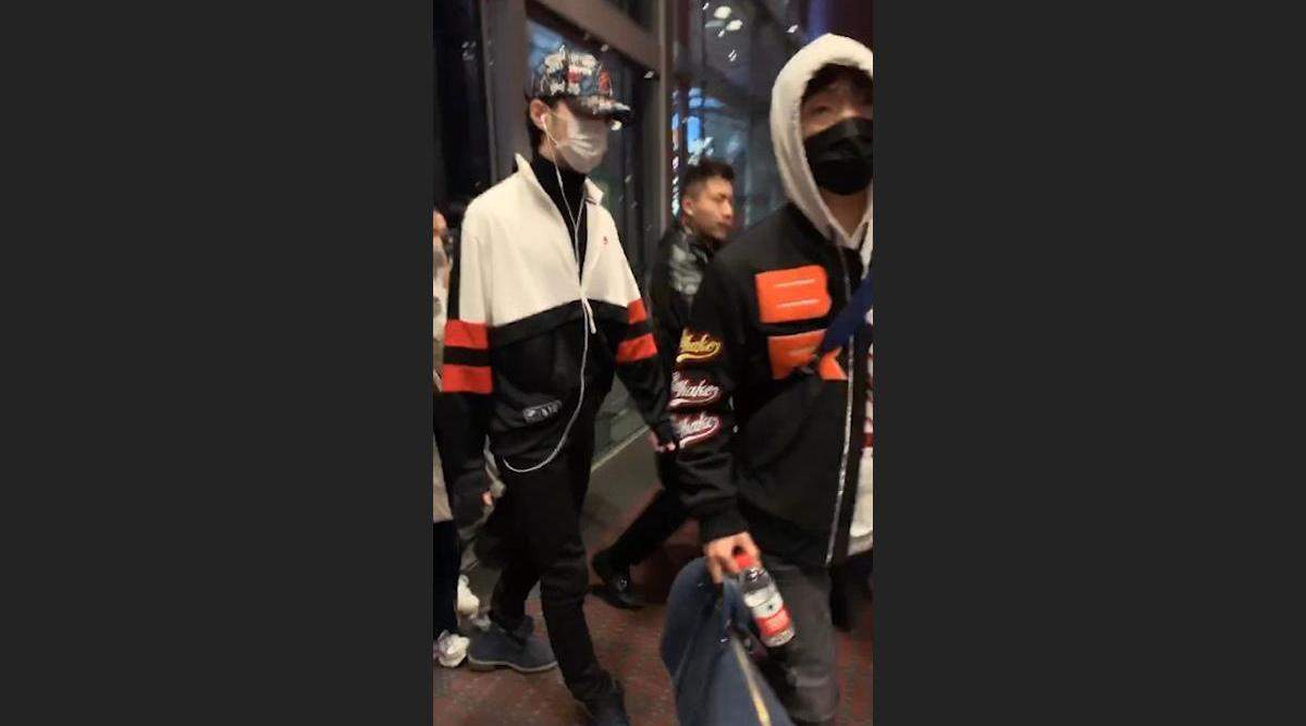 @赖冠霖_Edward 机场出口处被后面跟随的粉丝踩到鞋后跟