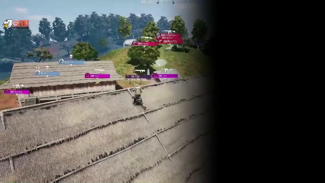 绝地求生PGC:斗鱼VC黑朝一串三灭队,堵桥战术罕见奏效