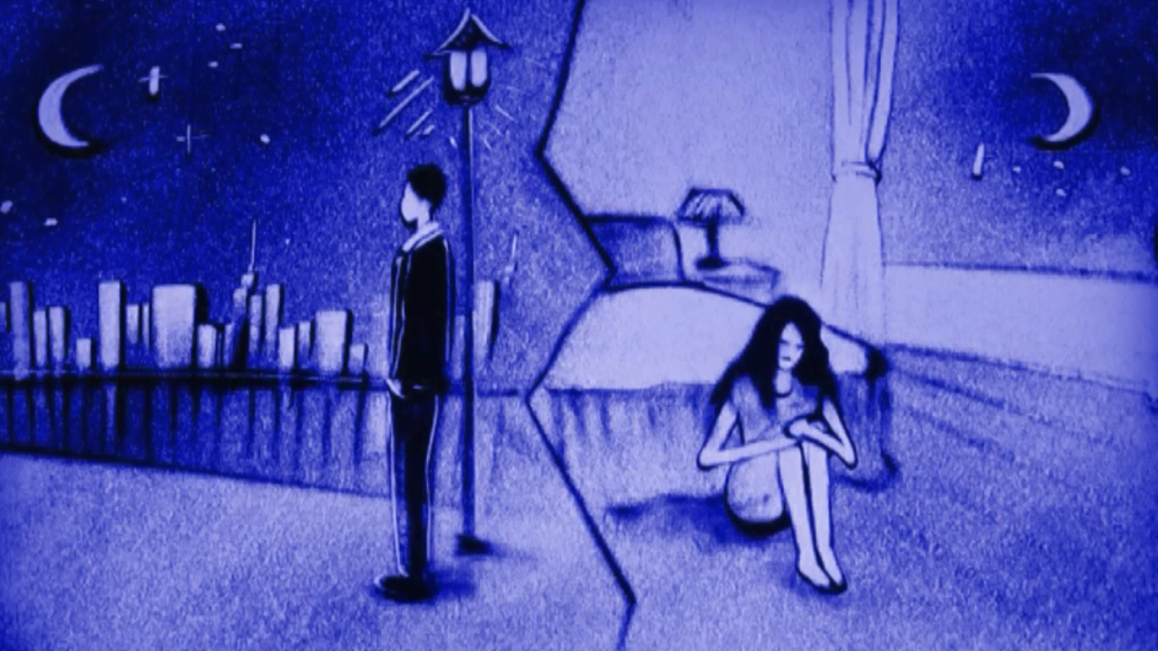沙画:一首《我的烦恼》句句扎心,你可知道,失去爱情是种煎熬!