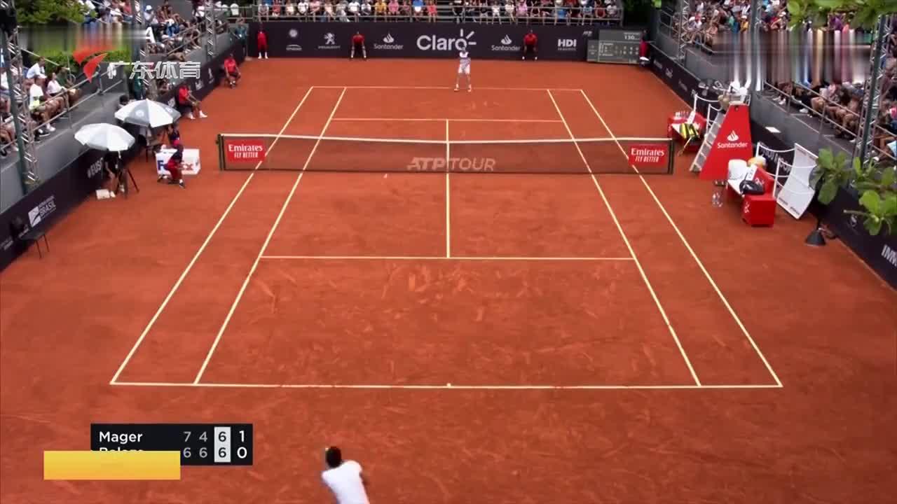 ATP里约赛 智利选手加林夺冠落泪