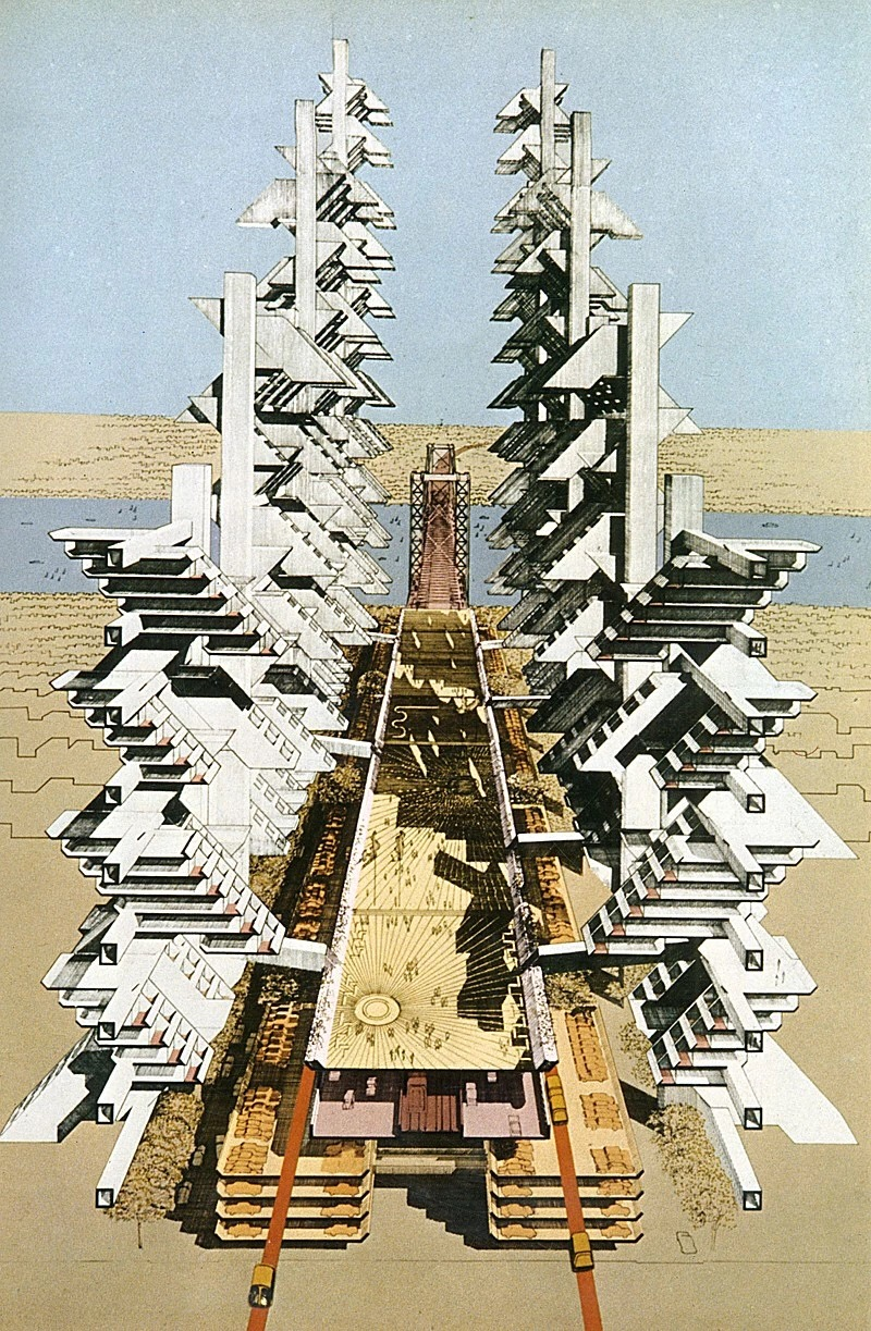 保罗· 鲁道夫 建筑手绘