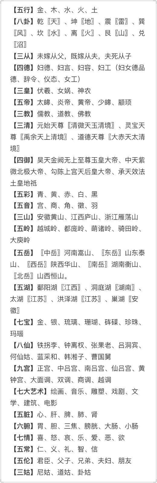 中国传统文化常识集锦,马住!