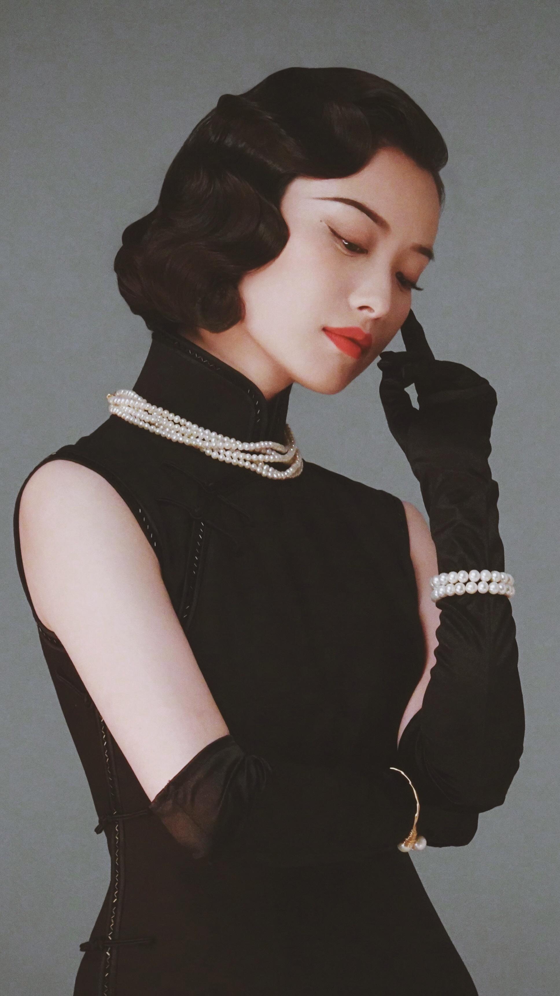 倪妮穿旗袍的那种民国风情太绝了