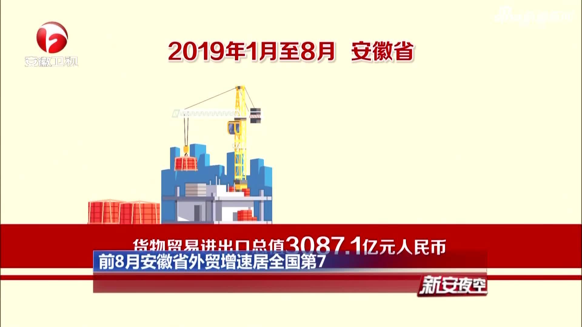 《新安夜空》前8月安徽省外贸增速居全国第7