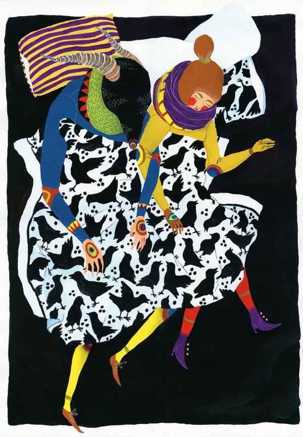 来自芬兰赫尔辛基插画家Ilona Partanen的作品,浓重的色彩