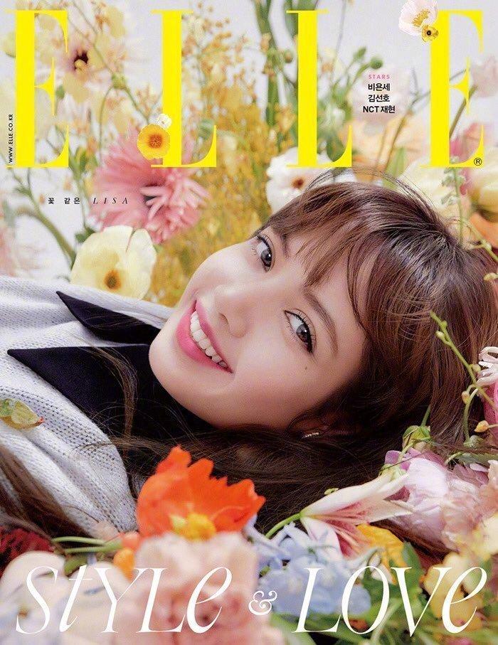 Lisa杂志封面照如花仙子,又奶又甜展清新可爱魅力!