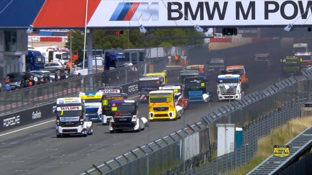 暴力的欧洲卡车锦标赛,一号弯太激烈