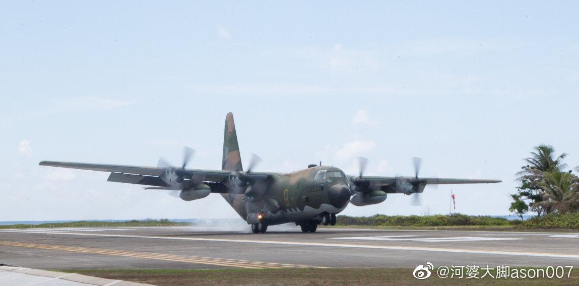 """台湾""""海巡署""""21日在太平岛举行人道救援演习"""