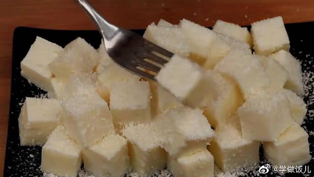 牛奶小方不用淡奶油,香甜Q弹,好吃还不上火!
