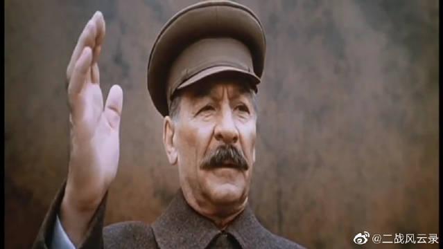斯大林同志在莫斯科红场演讲