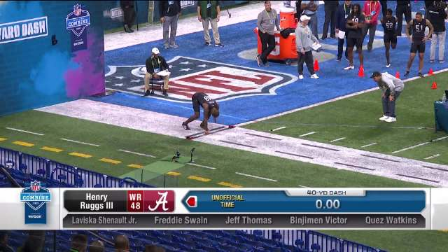 @NFL橄榄球 Henry Ruggs III在2020年40码跑测试中跑出了4.27秒。