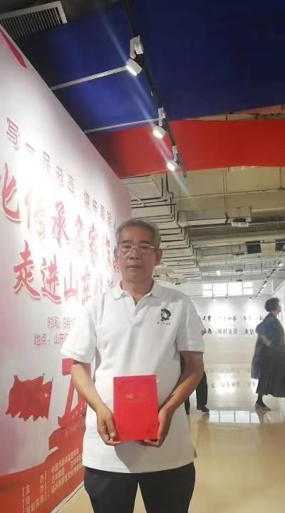 临沂市书法家吴景海与一品书画院院长田进军交流