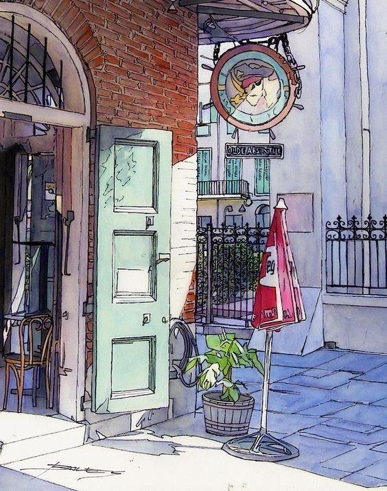 来自艺术家John Boles的城市水彩绘本