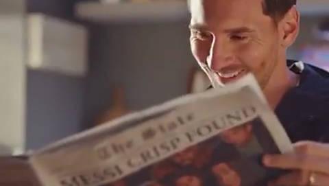 梅西ins更新乐事广告