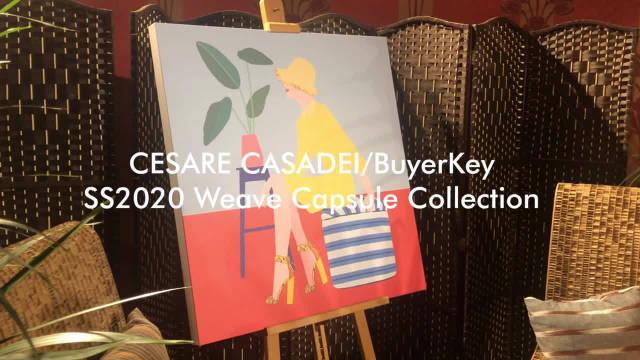 """CESARE CASADEI 2020 春夏""""编织""""胶囊系列~由国际贸易中心的道德时"""