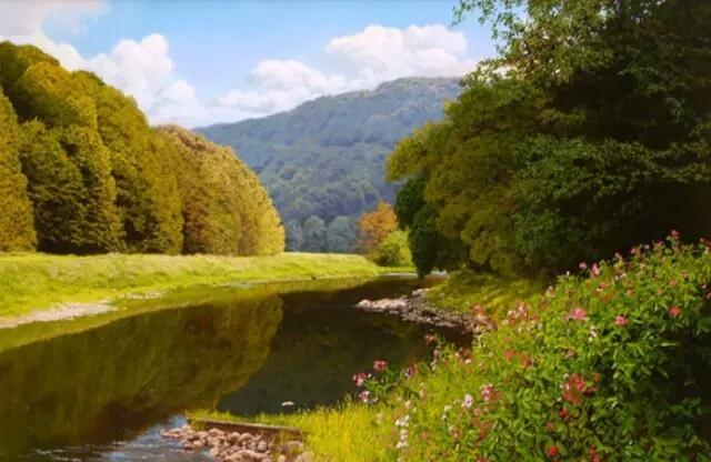 迈克尔·詹姆斯·史密斯,英国艺术家著名的写实风景画家